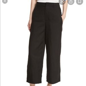 Vince Wide Leg Linen Blend Crop Pants M
